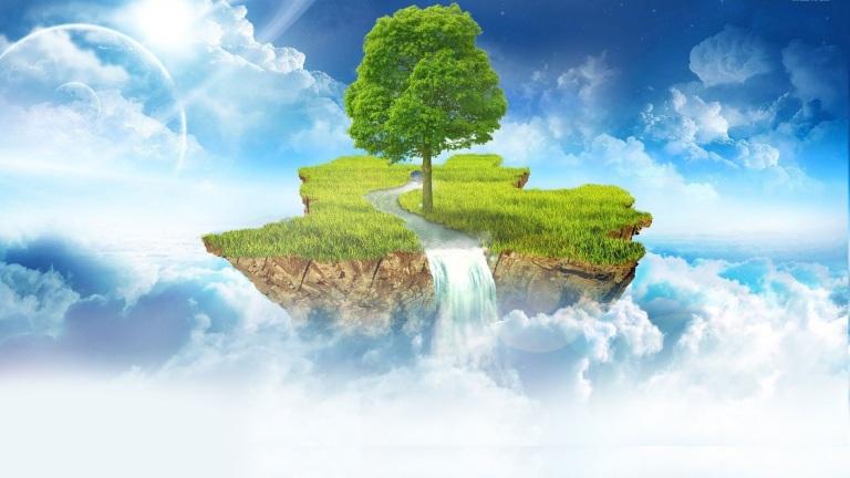 cloud-sky-planet-star-tree-island-stream
