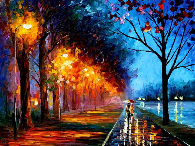 alley-by-the-lake-2-palette-knife-oil-painting-on-canvas-by-leonid-afremov-leonid-afremov